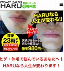 ランキング2018年【名古屋 栄のメンズ脱毛 プライベートサロン ハル(Private Salon Haru)】